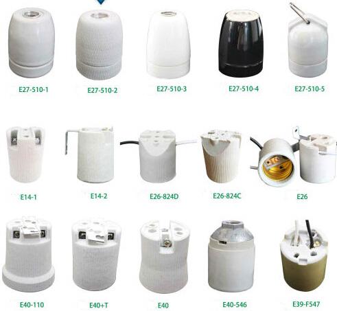 E27 lamp holder white
