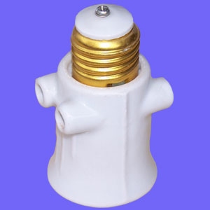 Lamp holder outlet