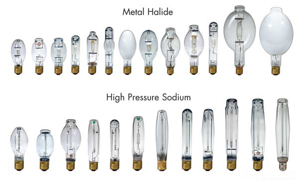 high pressure sodium bulb VS metal halide lamp