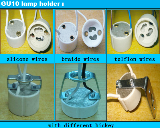 GU10 lamp holder sizes