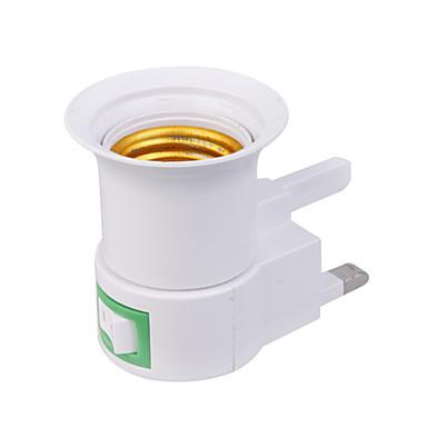 Uk Plug To E27 Led Light Bulb Socket Adapter With On Off