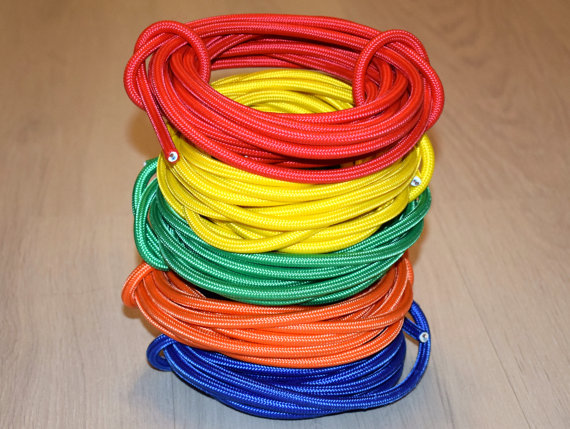 Textile Cable Copper Wire Braided Electrical Wire Lighting