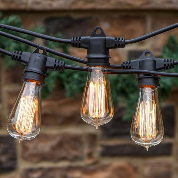Outdoor festoon lights Weatherproof Commercial Grade ...
