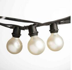 Outdoor String Lights Holders : Weatherproof Commercial LED festoon lighting outdoor Globe String Strip Lights with Hanging Sockets