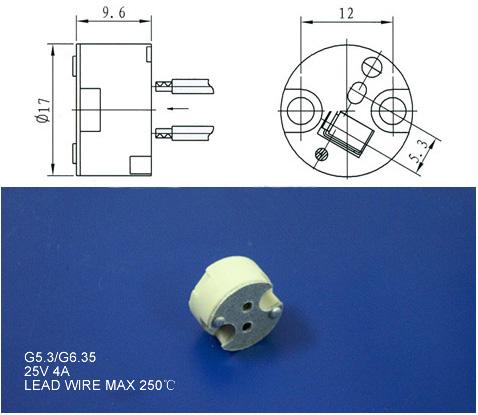 Mr16 Halogen Lamp Holder And Gu5 3 Lamp Base For Led