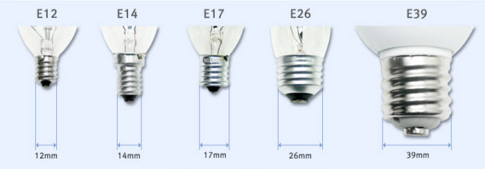 E27 Lamp Cap Edison Screw Cap Light Bulb Fittings