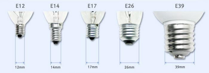 E14 Lamp Cap Edison Screw Cap For Led Bulbs