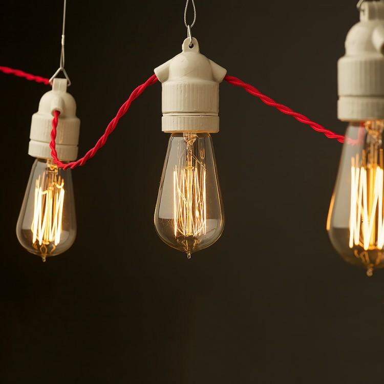 E27 Base String Lights : E27 festoon lamp holder ceramic CE UL